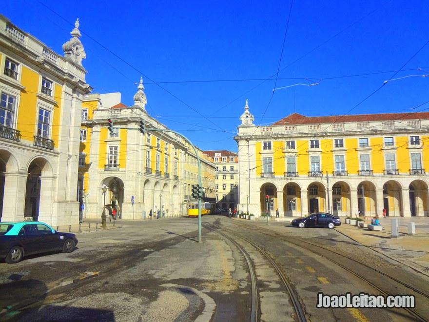 Foto da Praça do Comércio também conhecida como o Terreiro do Paço em Lisboa