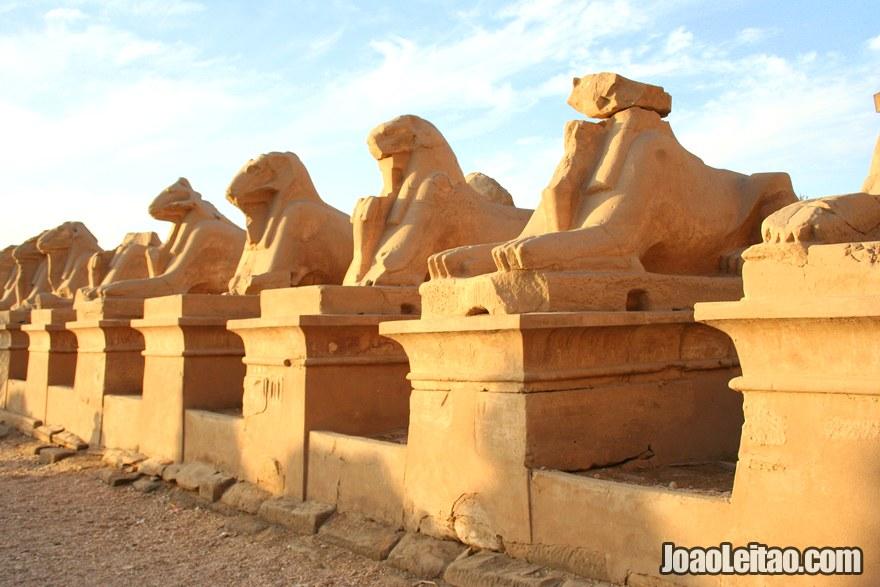 Entrada do Templo de Karnak em Luxor