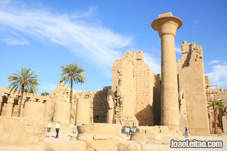 Vista geral do Templo de Karnak