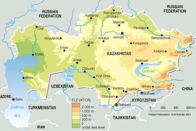 Mapas do Cazaquistão