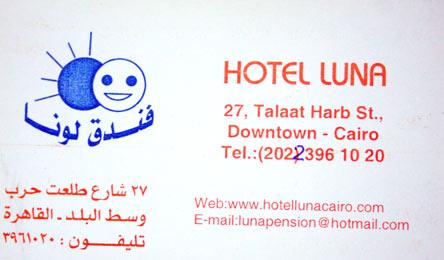 Hotel Luna na Downtown Cairo Hotel Egipto