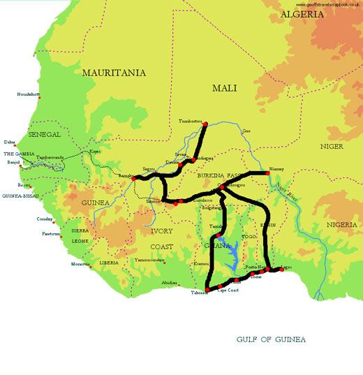 Mapa Africa Ocidental