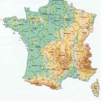 Mapa Regiões e Departamentos da França