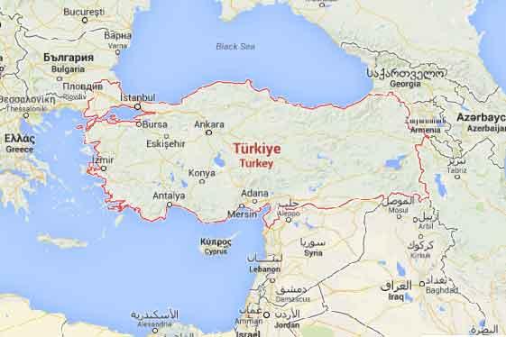 Mapa Google Turquia
