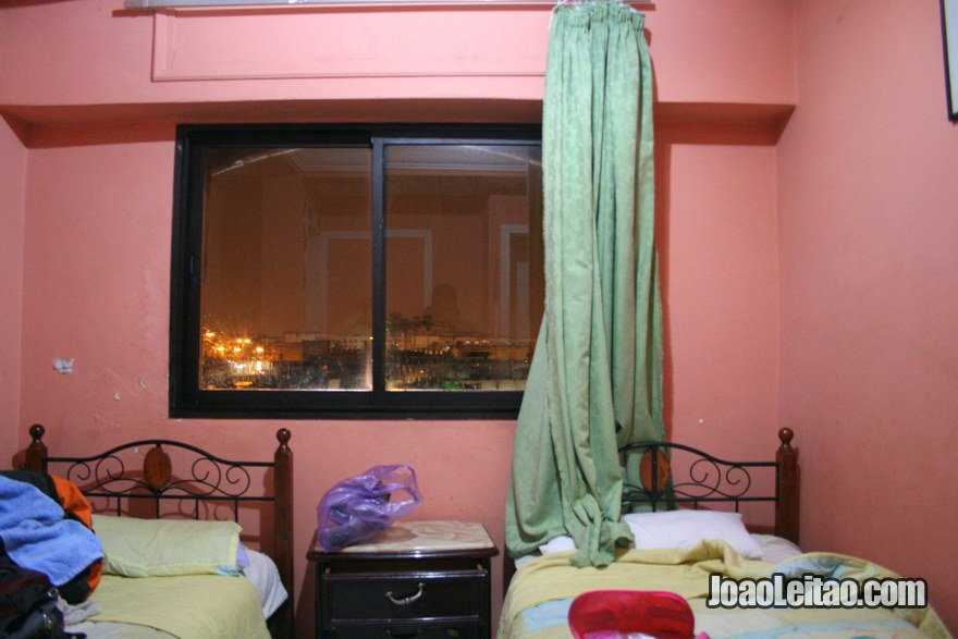Quarto do Hotel du Centre em Rabat, Marrocos