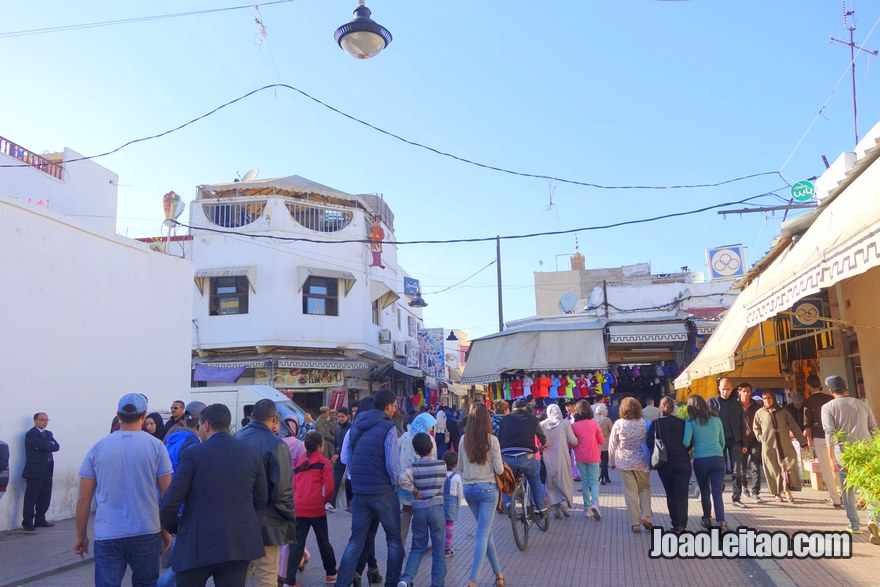 Entrada da medina onde está situado o Hotel du Centre em Rabat, Marrocos