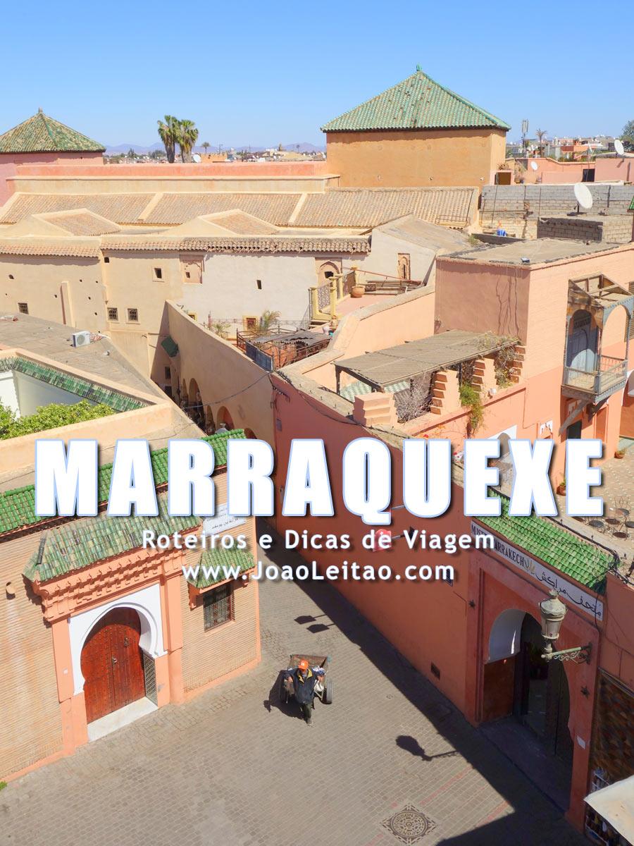Vista bonita da Medina de Marrakech