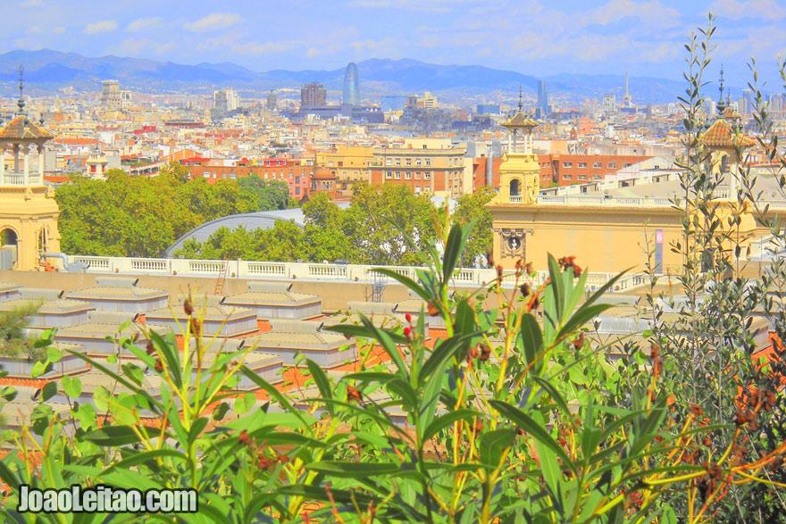 Vista muito bonita de Barcelona, Catalunha - Espanha
