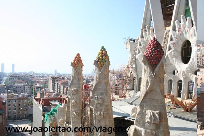 Barcelona vista do cimo da Catedral da Sagrada Família