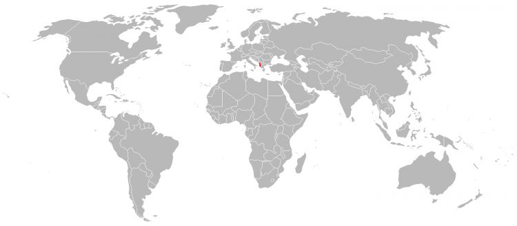 Mapa da Albania