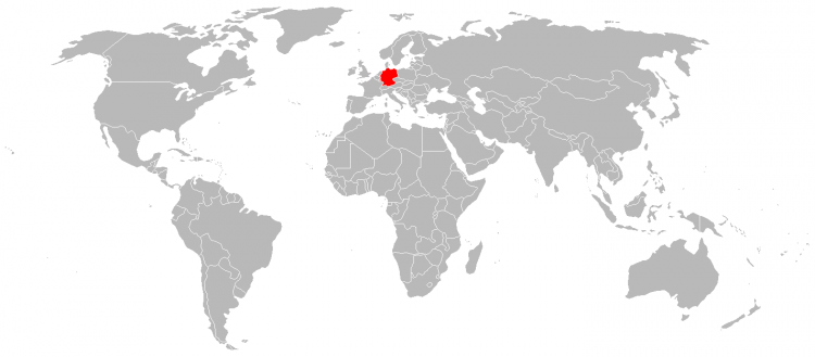 Mapa Alemanha