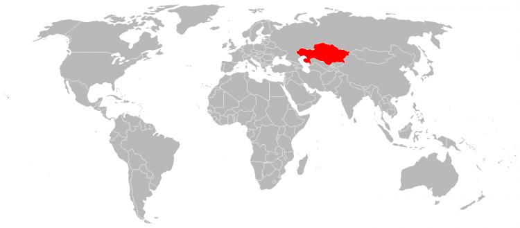 Mapa Cazaquistao