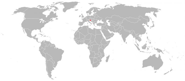Mapa Eslovénia