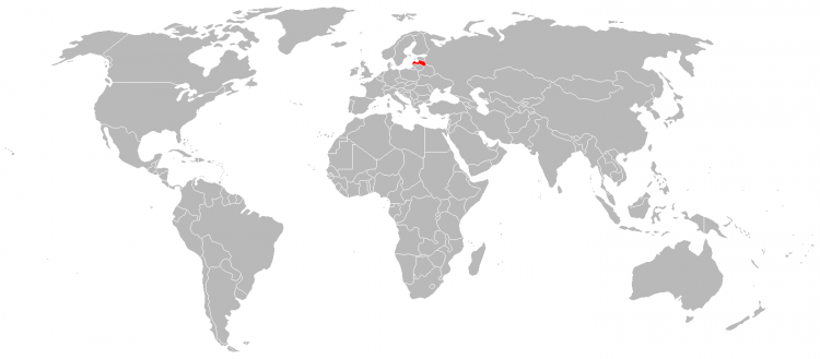 Mapa Letonia