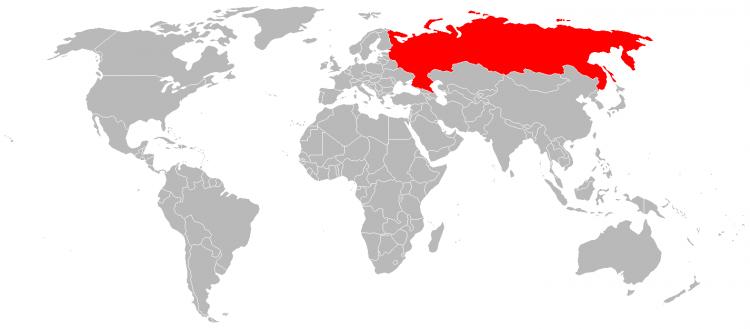 Mapa Russia
