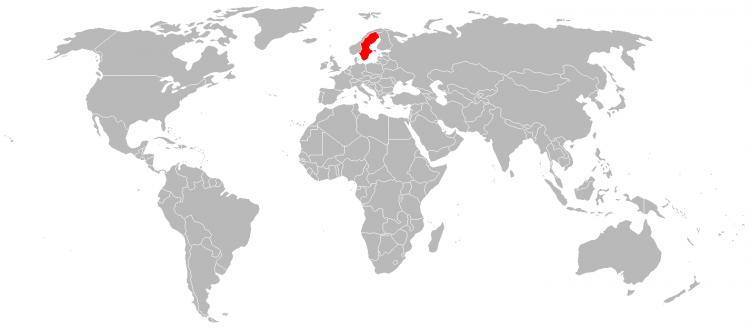 Mapa Suecia