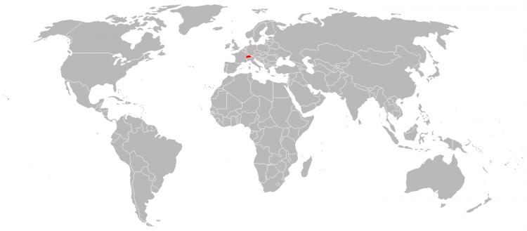 Mapa Suica
