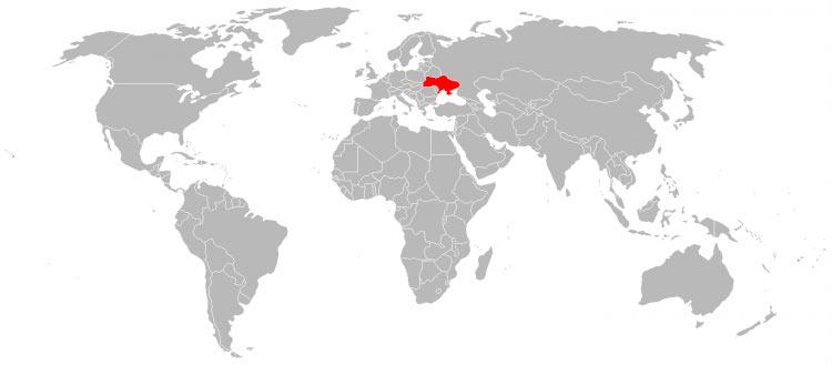 Mapa Ucrânia