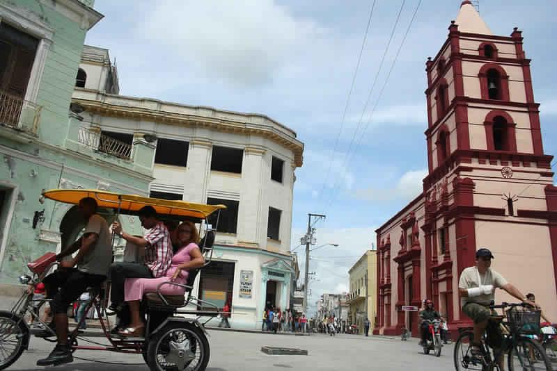 Centro da cidade de Camaguey em Cuba