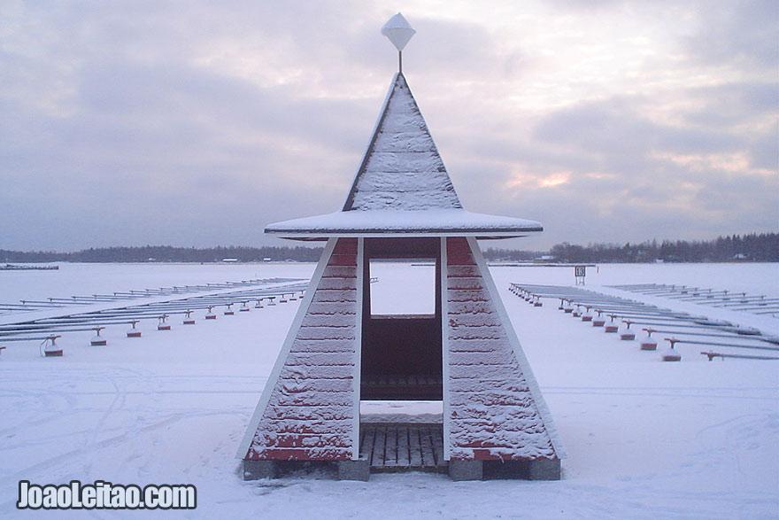 Mar congelado em Merikarvia, Visitar a Finlândia