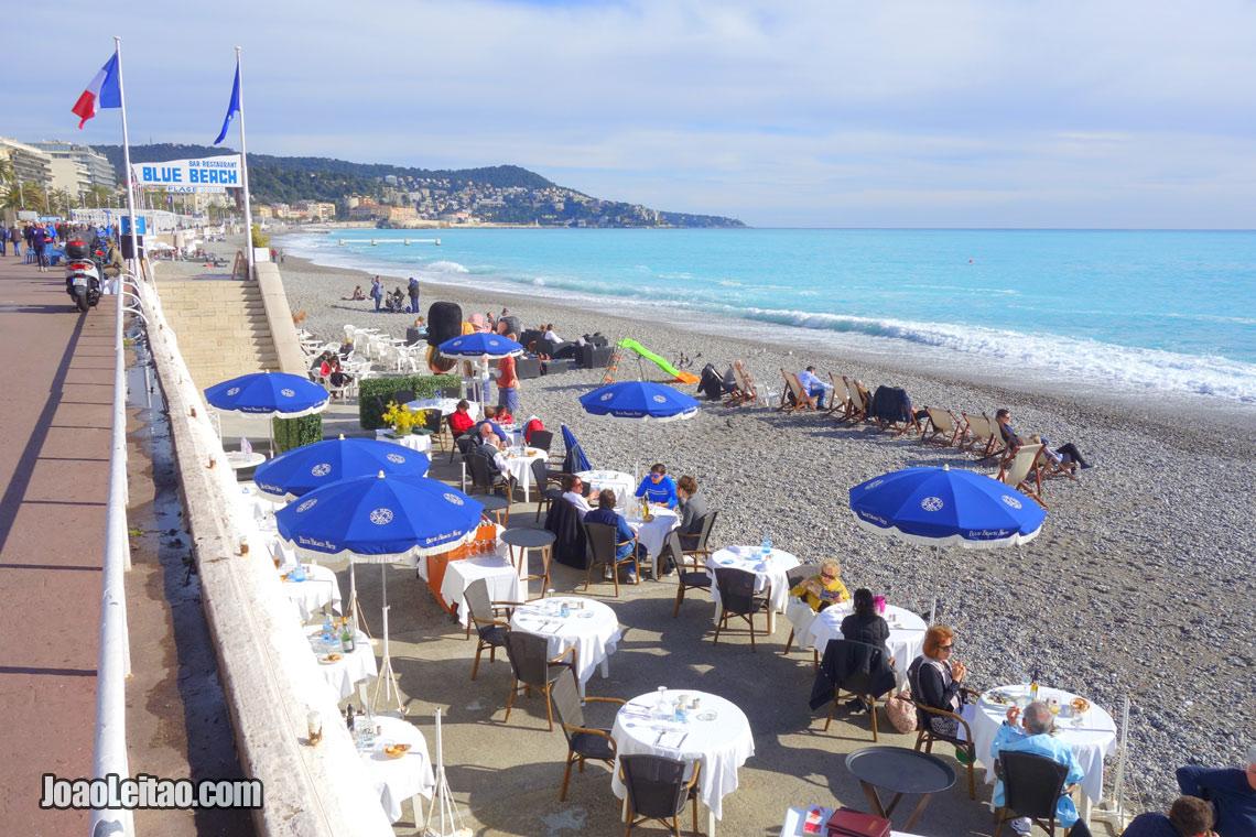 Costa Azul em Cannes no Mar Mediterrâneo, Visitar França