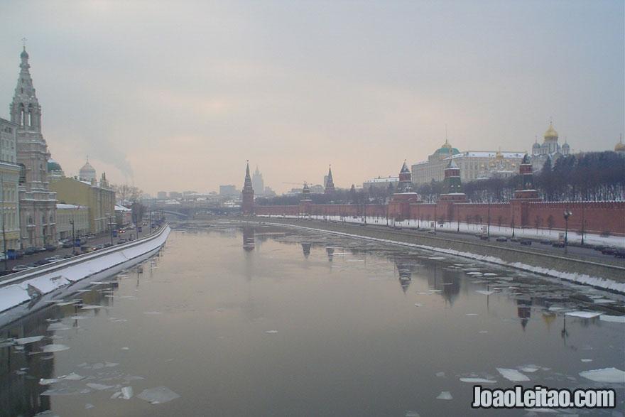 Vista do rio Volga e do Kremlin, Visitar a Rússia