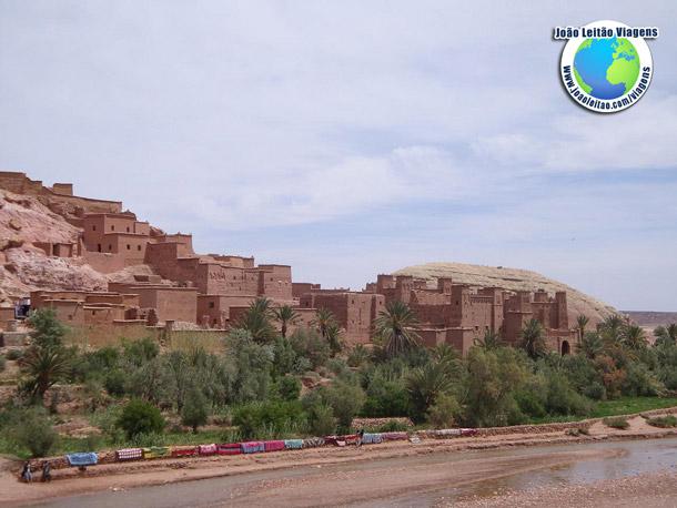 Ksar de Ait Benhaddou, aldeia UNESCO em Ouarzazate, Marrocos