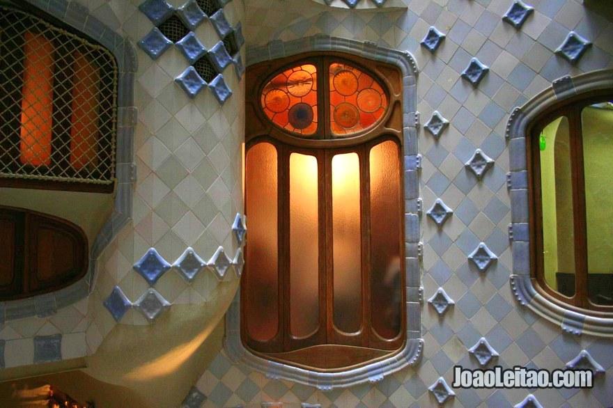 Decoração dentro da Casa Batlló em Barcelona