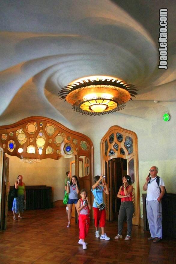 Uma das salas interiores da Casa Batlló em Barcelona