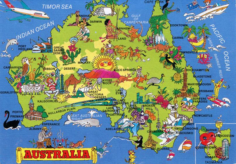 Mapa Turistico da Australia