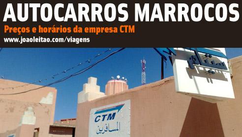 Autocarros em Marrocos