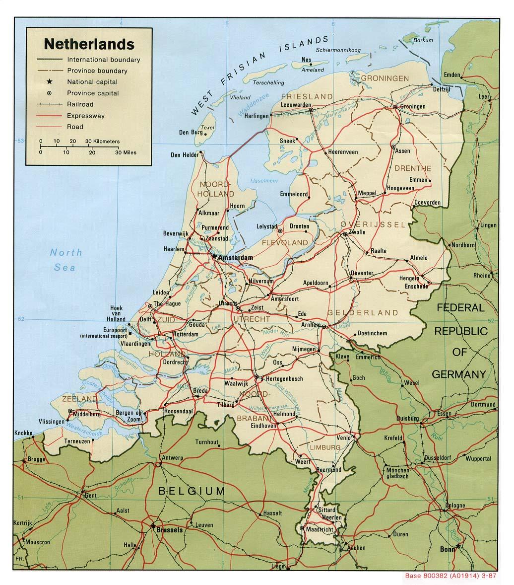 Mapa da Holanda<