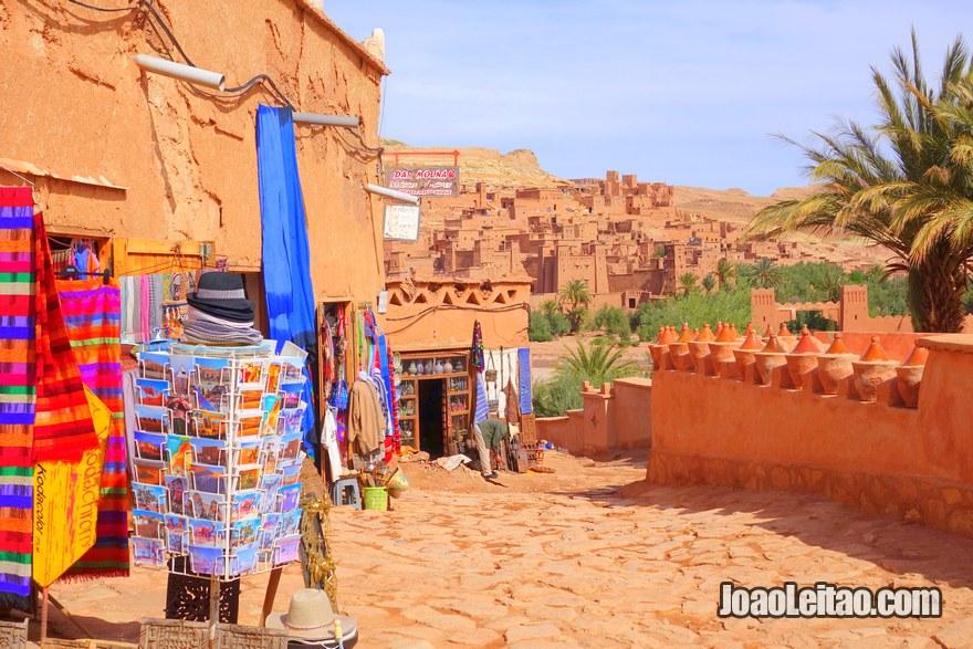Ksar Ait Benhaddou na região de Ouarzazate