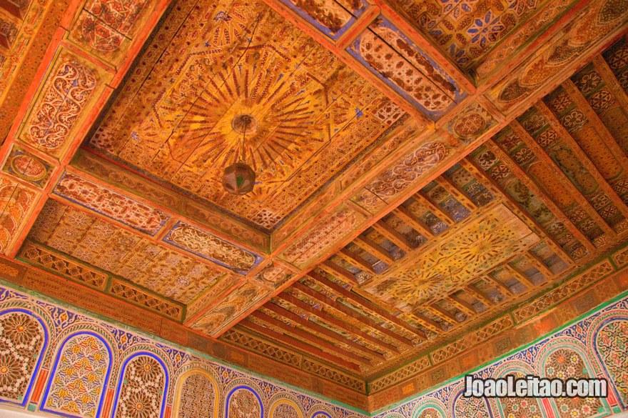 Decoração do interior do Kasbah Taourirt