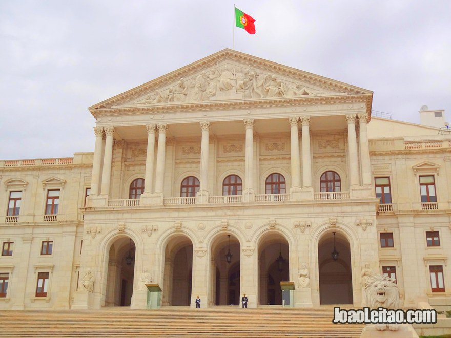 Foto da Assembleia da República em Lisboa