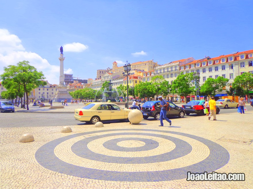 Foto da Praça D Pedro IV em Lisboa