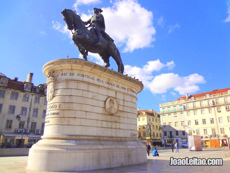 Foto da Praça da Figueira em Lisboa