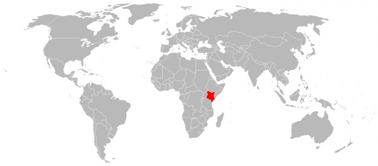 Mapa Quenia