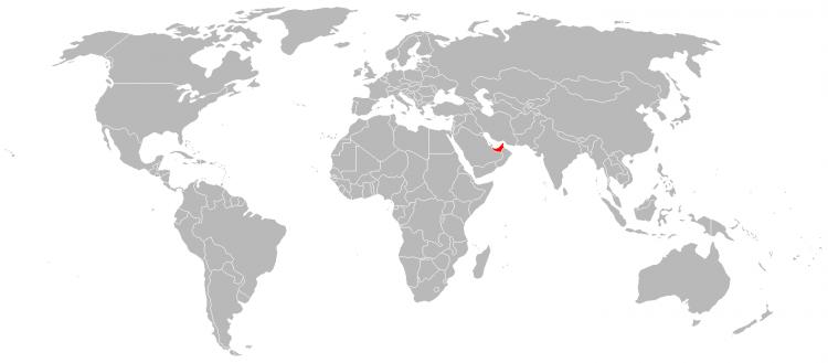 Mapa Emirados Arabes Unidos