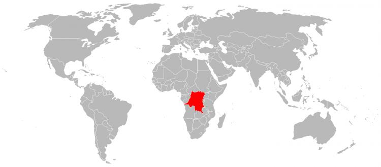 Mapa Republica Democratica Congo