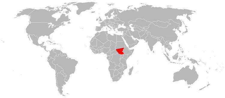 Mapa Sudao do Sul