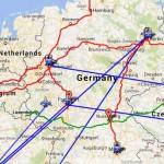 O meu Mapa de Viagens na Alemanha
