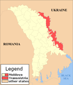 Mapa da Pridnestróvia, Mapa Transnístria