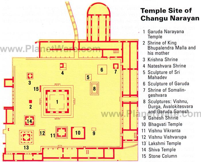 Mapa Templo Changu Narayan Bhaktapur