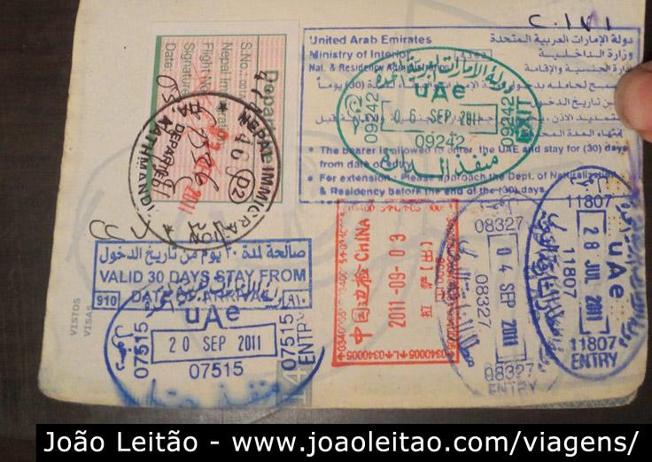 Visto de entrada para os Emirados Árabes Unidos
