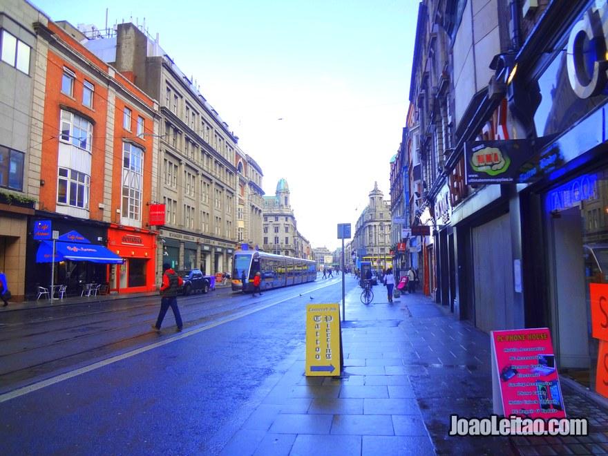 Foto da rua Aungier Street em Dublin
