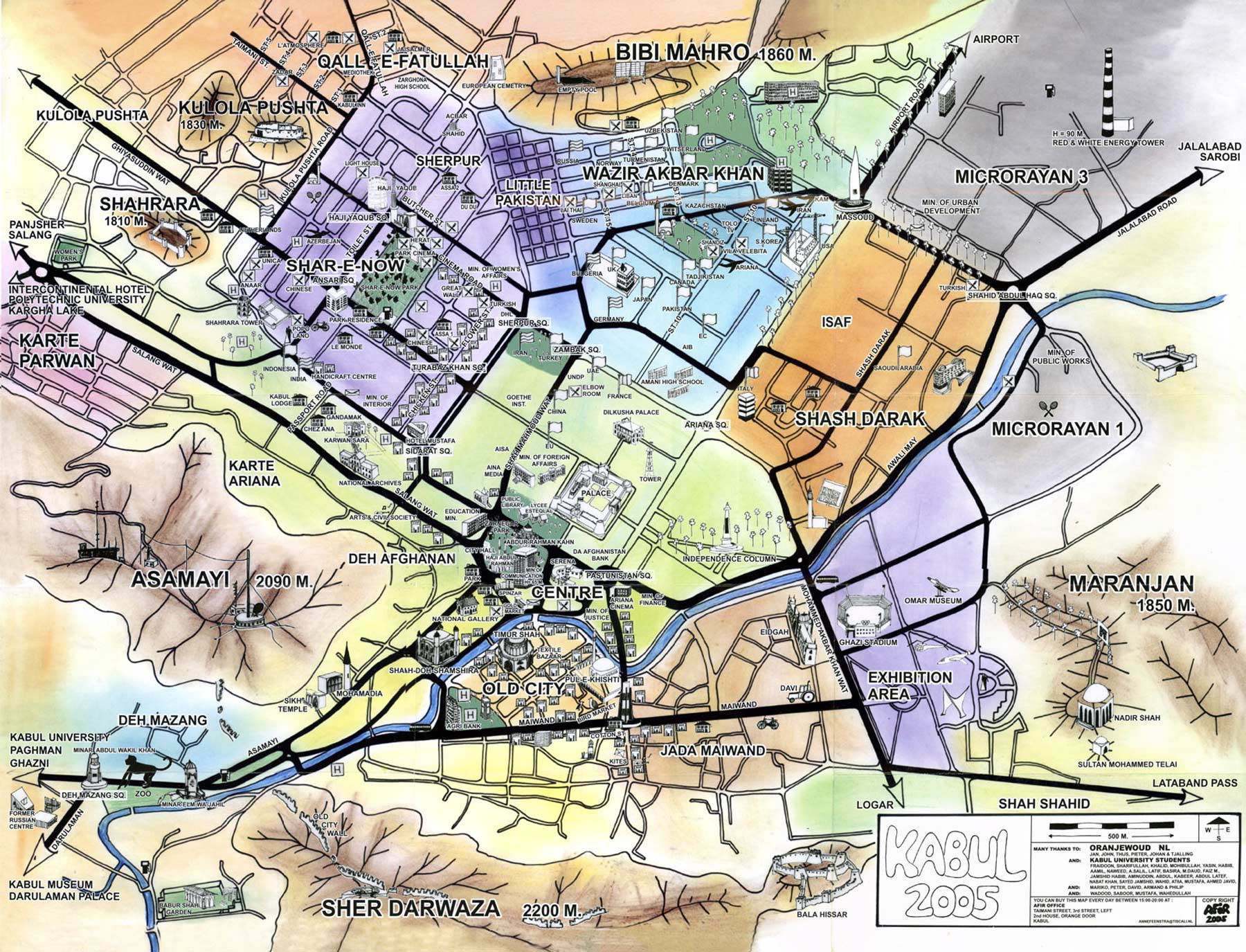Map of Kabul