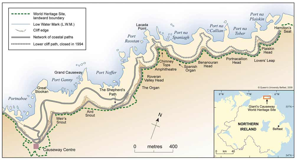 Mapa da Giant's Causeway