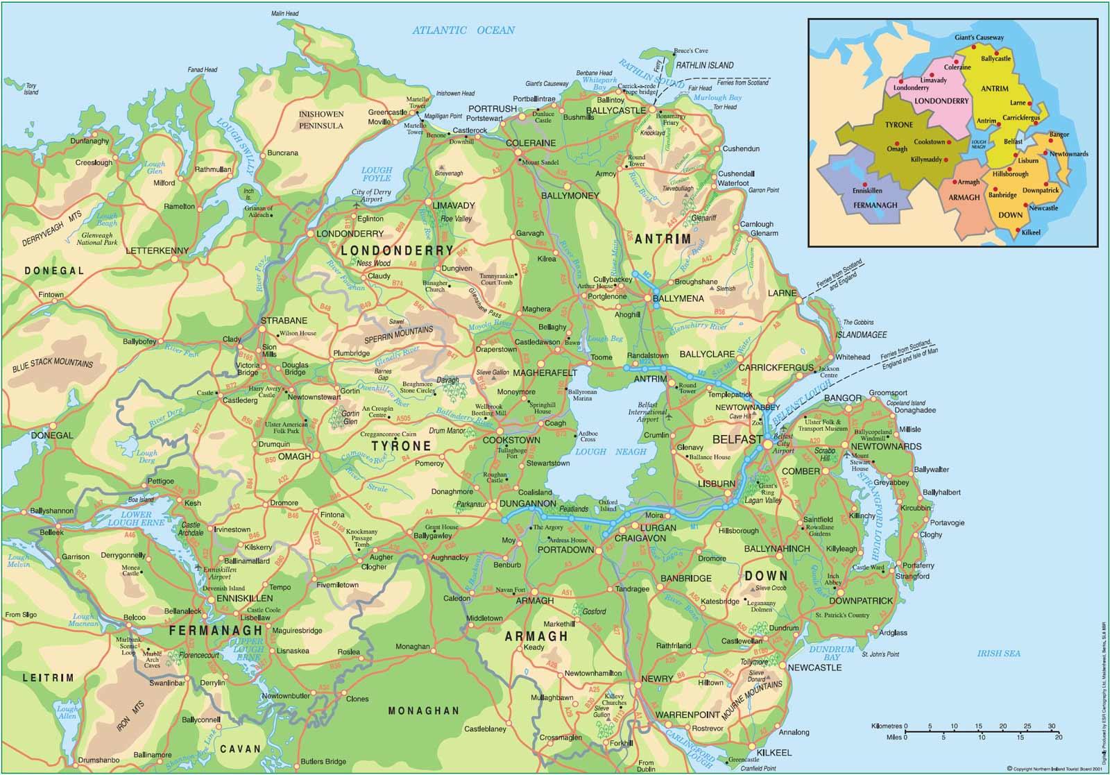 Mapa Da Irlanda Do Norte Blog De Viagens Do Jo 227 O Leit 227 O