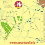 Mapa Samarcanda, Uzbequistão